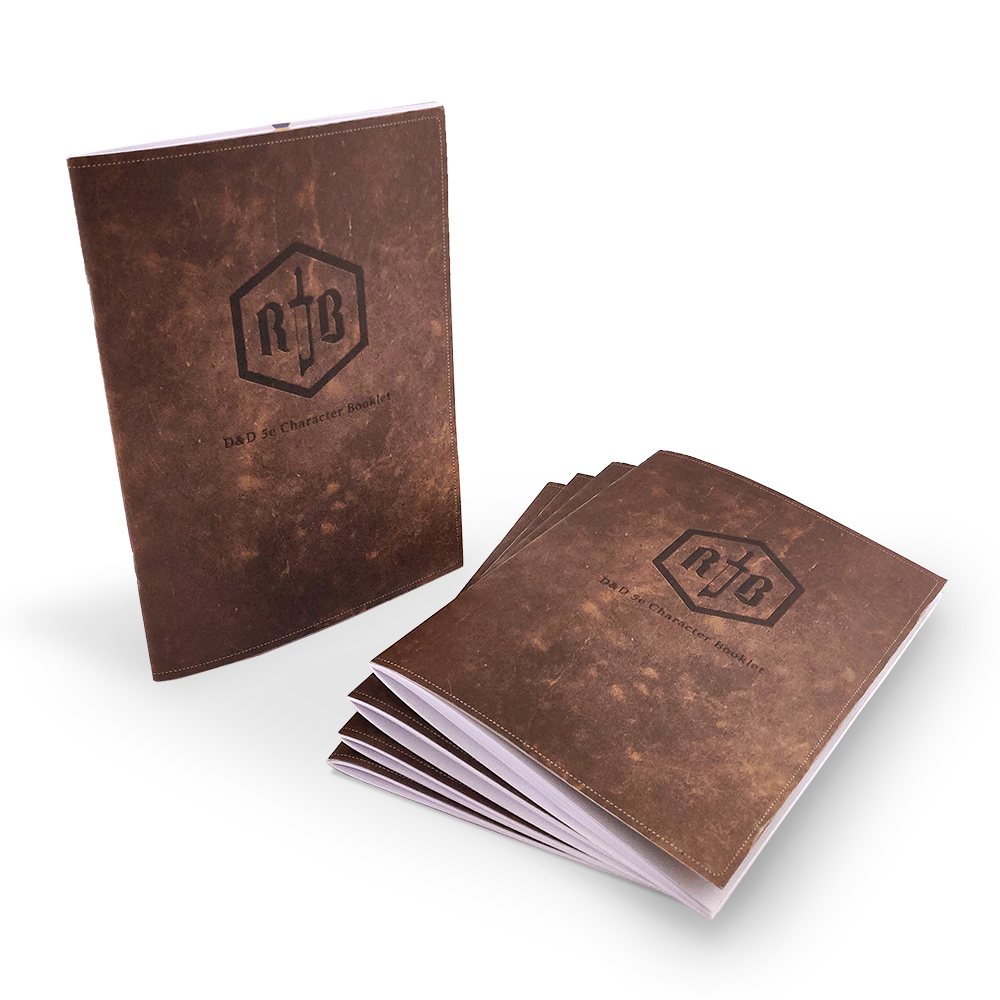 'TPK'   Total Party Kit   5 X Character Booklets