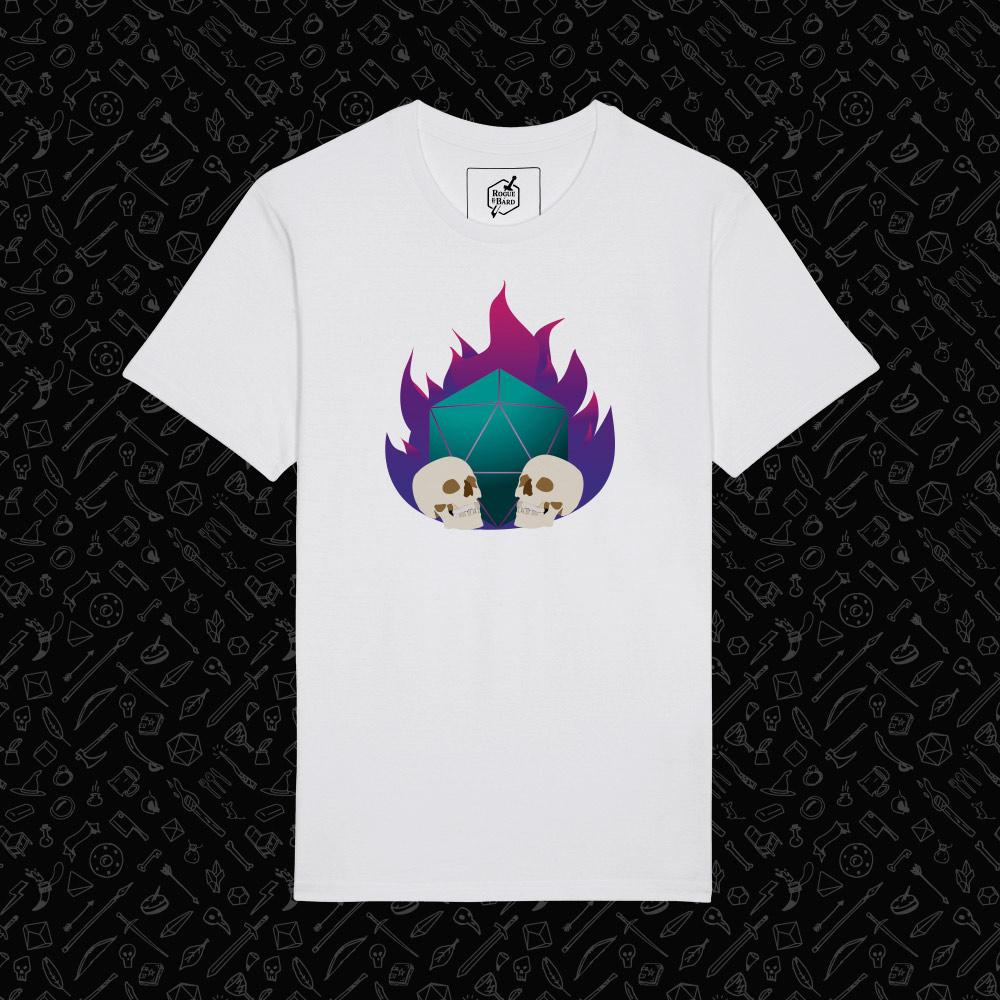 Necromancer white t-shirt